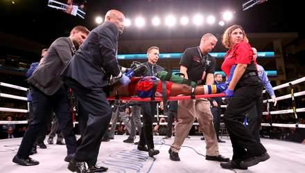 Американського боксера на ношах винесли з рингу перед боєм Усика з Візерспуном: фото