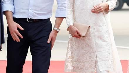 У білосніжному вбранні: Кейт Міддлтон і принц Вільям прилетіли у Лахор