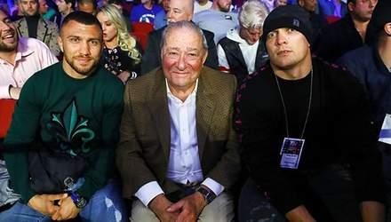 Бій Гвоздик – Бетербієв відвідали зірки боксу: фото