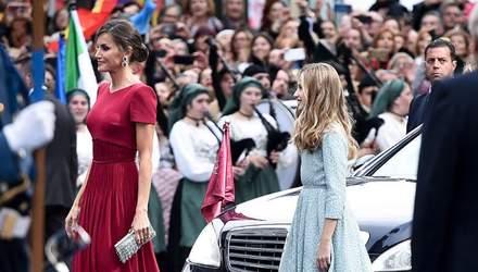 У червоній шовковій сукні та на підборах: королева Летиція відвідала урочисту подію