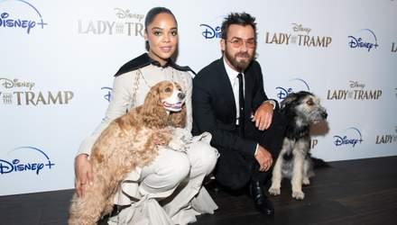 """У Нью-Йорку відбулася прем'єра від Disney """"Леді та Блудько"""": Джастін Теру прийшов із собакою"""