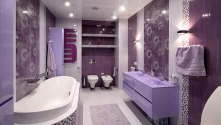 Фіолетова ванна: як не порушити стиль та що не можна забувати