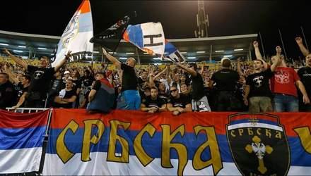 Сербию наказали матчем без зрителей в отборе на Евро-2020 из-за действий фанатов