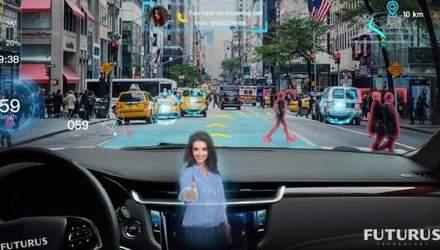 Революционная технология превращает лобовое стекло автомобиля в дисплей дополненной реальности