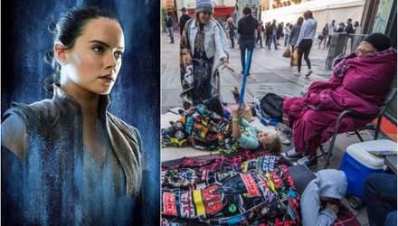 """За три дня до выхода """"Звездных войн 9"""" фанаты выстроились в очередь и создали лагеря ожидания"""