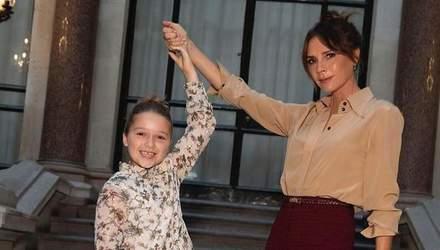 Дэвид и Виктория Бекхэм крестили младших детей: первые фото с церемонии
