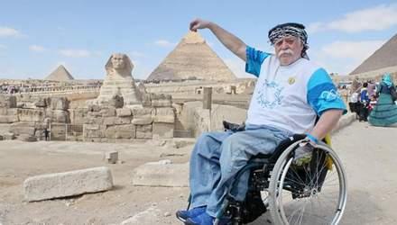 Українець, який подорожує навколо світу на інвалідному візку: мотивуюча історія