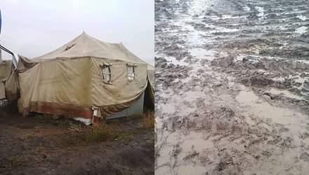 """Багнюка та вода по коліна: шокуючі кадри з військового полігону """"Широкий Лан"""""""