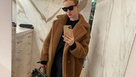Как одеться зимой: стильные идеи от модели Рози Хантингтон-Уайтли
