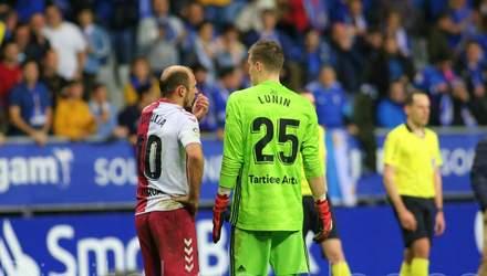 Лунін відбив пенальті у матчі проти команди Зозулі в чемпіонаті Іспанії – відео
