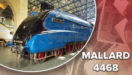 Самый быстрый в мире паровоз: фото и видео мощного Mallard 4468