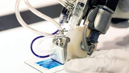 Біопринтер друкує шкіру відразу на місці рани