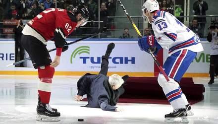 Як Моурінью впав на льоду в Росії – відео курйозного епізоду