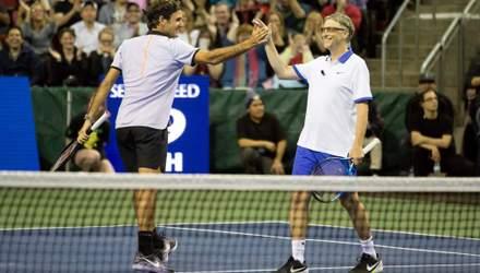 Федерер у видовищному матчі обіграв Надаля за допомогою Білла Гейтса