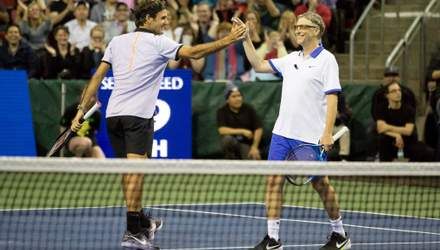 Федерер в зрелищном матче обыграл Надаля с помощью Билла Гейтса
