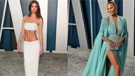 Прозрачные платья и провокационные декольте: какие звезды отличились на вечеринке Vanity Fair