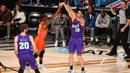 Михайлюк набрал 6 очков в Матче восходящих звезд НБА в кроссовках с гербом Украины – видео
