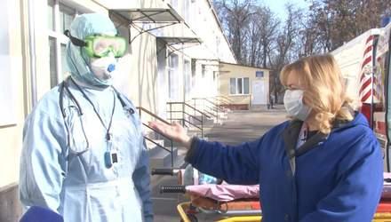 В Кропивницком провели учения на случай госпитализации больных коронавирусом