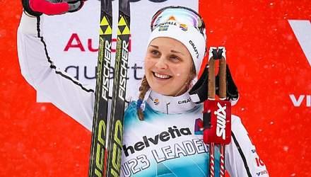 Олімпійська чемпіонка з лижних перегон потренувалась у компанії ведмедя