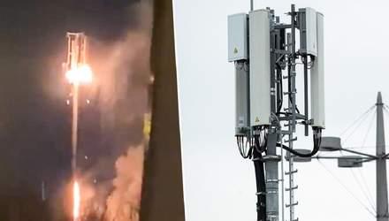 У Великій Британії підпалюють антени 5G через чутки про їх зв'язок з коронавірусом