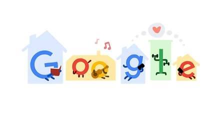 Google закликав залишитися вдома, щоб зупинити коронавірус: новий дудл