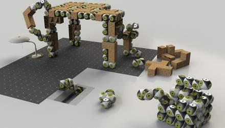 Модульные работы Roombots превратят любую мебель в разумную: видео