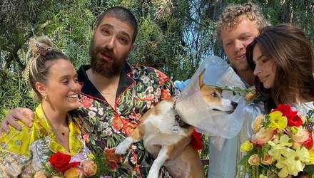 Емілі Ратажковскі провела весілля на карантині: нареченими стали собаки