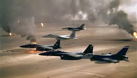 Ожесточенные воздушные бои в Персидском заливе:  США разрушили планы иракского диктора Хусейна