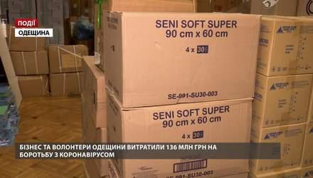 Бізнес та волонтери Одещини витратили 136 млн гривень на боротьбу з коронавірусом