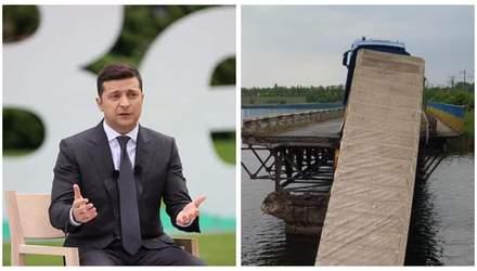 Пресс-конференция Зеленского, обвал моста в Никополе – Гуд найт Юкрейн