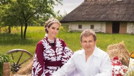 Ко Дню вышиванки: Екатерина Осадчая снялась в волшебной фотосессии с Юрием Горбуновым