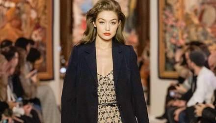 Ніхто й не помітив: Джіджі Хадід з'являлася вагітною на модних показах