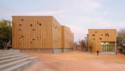 Фасад из деревянных дощечек: в ЮАР построили общежития странной формы – фото
