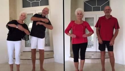 Бабушка с дедушкой подбирают одинаковые костюмы и исполняют популярные танцы в TikTok: видео