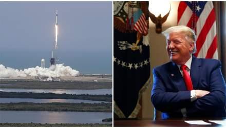 Запуск корабля SpaceX: Трамп порадів кінцю залежності від Росії, а Росія змогла привітати США