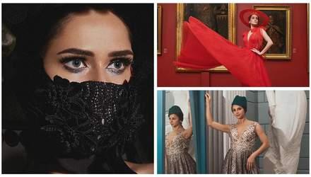 В масках и роскошных платьях: Астафьева, Санина и Гвоздева снялись в изысканной фотосессии