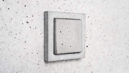 Альтернатива пластику: дизайнерская студия создала выключатели и розетки из бетона – фото