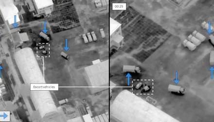 Колона вантажівок з Росії приховано в'їхала до України: унікальні знімки з безпілотника