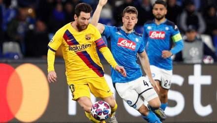 Барселона – Наполі: де дивитися онлайн матч 1/8 фіналу Ліги чемпіонів
