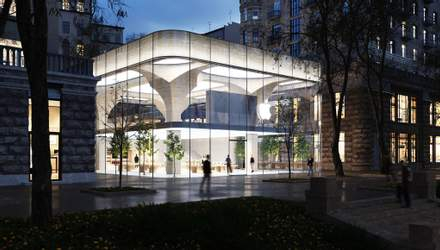 Apple Store Kyiv: разработали концепт украинских архитекторов