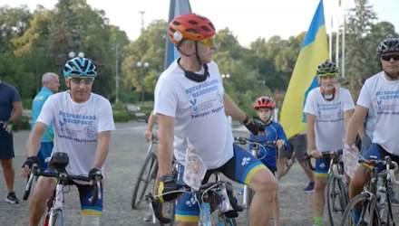 В Ужгороде стартовал всеукраинский велозабег ветеранов АТО: заезд продлится 12 дней