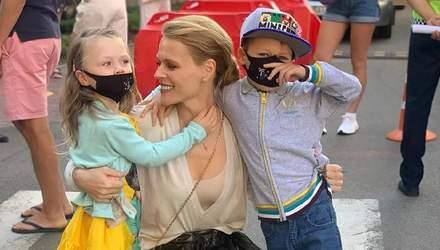 Ольга Фреймут відвела 3-річну доньку в школу: яскраві фото
