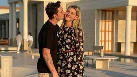 Моя жена: Бруклин Бекхэм продолжает провоцировать слухи о тайной свадьбе с Николой Пельтц