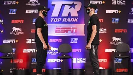Постол і Рамірес провели дуель поглядів перед боєм за титули WBC і WBO: відео