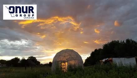 Украинский стартап ecoPod производит геодезические купола, они могут стать альтернативой отелям