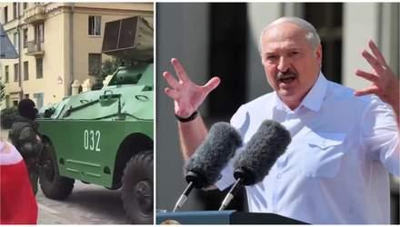 Запугать протест: как Лукашенко имитирует прохождение колонн техники и перелет вертолетов