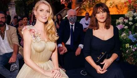 У розкішних сукнях: Моніка Белуччі й Кітті Спенсер з'явились на показі Dolce & Gabanna
