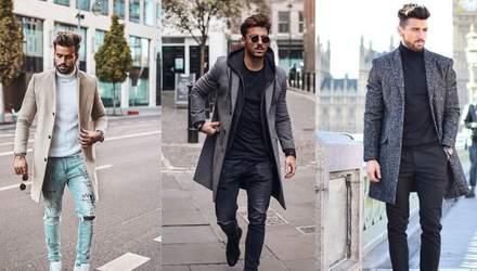 З чим носити чоловіче пальто: 10 стильних образів на щодень
