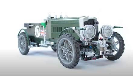 Фанаты Bentley Blower собрали легендарный ретрокар из кубиков Lego: впечатляющее зрелище