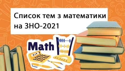 ЗНО з математики у 2021 році: програма та теми, за якими треба підготуватися